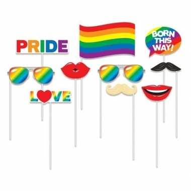 Carnavalskleding x photobooth props regenboog vlag thema helmond