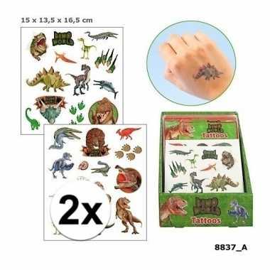 Carnavalskleding x plak tatoeages dinosaurus vellen helmond