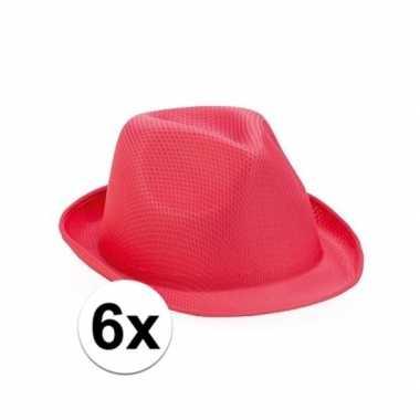 Carnavalskleding x roze trilby feesthoedjes toppers helmond 10109524