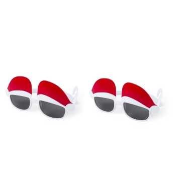 Carnavalskleding x stuks kerst thema zonnebrillen/feestbrillen kerstm