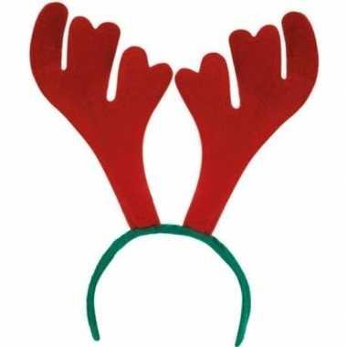 Carnavalskleding x stuks rendier diadeem/haarband volwassenen kerstac