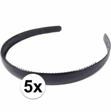Carnavalskleding x zwarte dames diadeem/haarband , breed helmond
