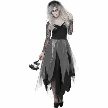 Carnavalskleding zombie bruidsjurk dames helmond