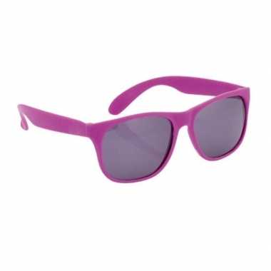 Carnavalskleding zonnebril kunststof paarse montuur helmond