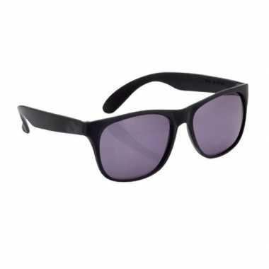 Carnavalskleding zonnebril kunststof zwart montuur helmond