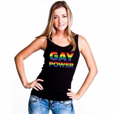 Carnavalskleding zwart gay power tanktop dames helmond