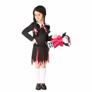 Carnavalskleding zwart jurkje woensdag meiden helmond