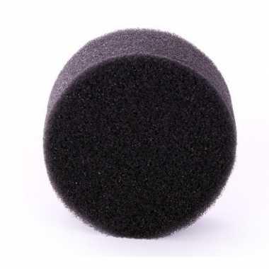 Carnavalskleding zwart schmink / make up sponsje rond helmond