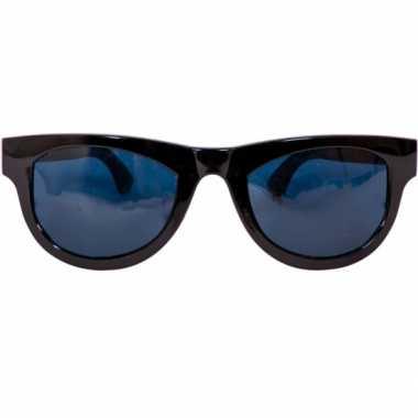 Carnavalskleding zwarte blues brothers mega bril helmond