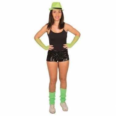 Carnavalskleding zwarte pailletten hotpants dames helmond