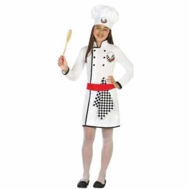 Chef kok verkleed carnavalskleding/jurk meisjes helmond