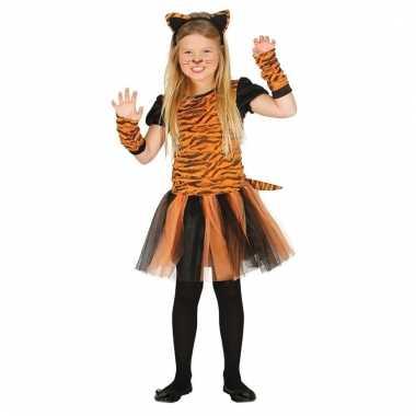 Dieren carnavalskleding tijger meisjes helmond