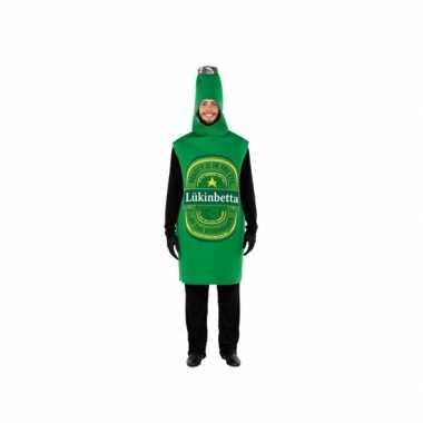 Groene bierfles verkleedcarnavalskleding volwassenen helmond