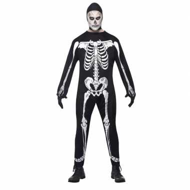 Halloween skelet carnavalskleding volwassenen helmond