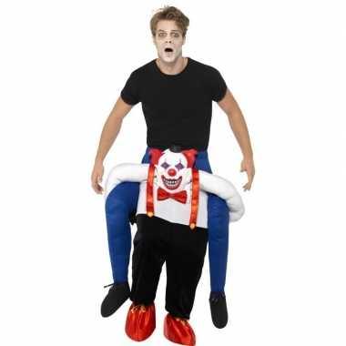 Instapcarnavalskleding enge horror clown volwassenen helmond