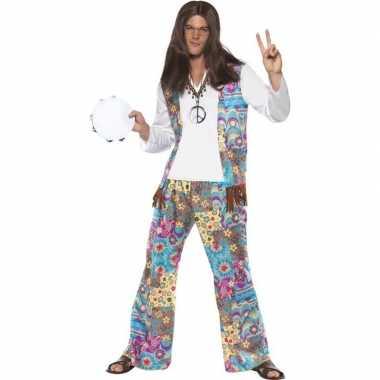 Jaren hippie carnavalskleding groovy heren helmond