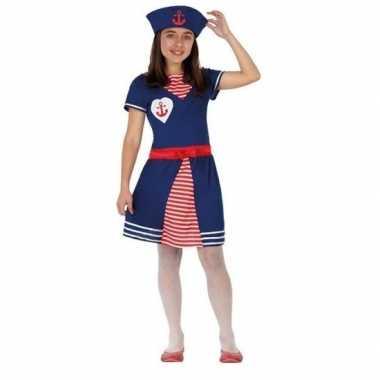 Matrozen verkleed jurkje/carnavalskleding meisjes helmond