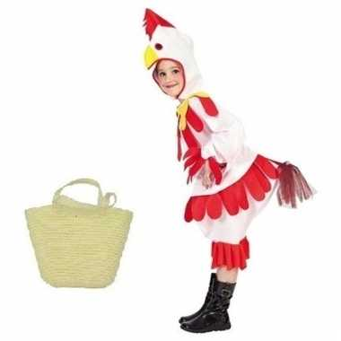 Paaskippetje carnavalskleding maat mandje kinderen helmond