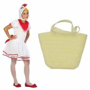 Paaskippetje carnavalskleding maat mandje meisjes helmond