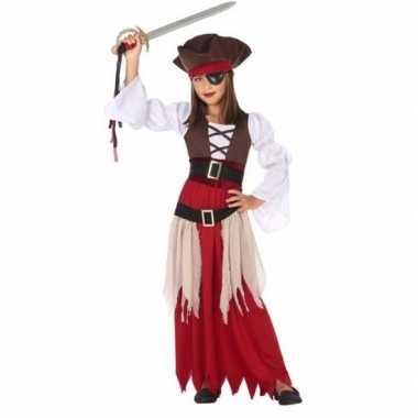 Piraten verkleed carnavalskleding/jurk meisjes helmond
