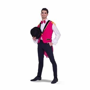 Roze circus carnavalskleding heren helmond