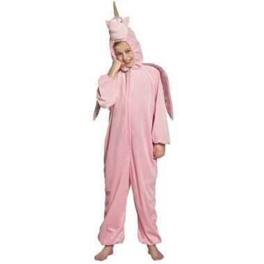 Roze dierencarnavalskleding eenhoorn kinderen helmond