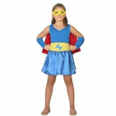 Supergirl jurk/jurkje verkleed carnavalskleding meisjes helmond