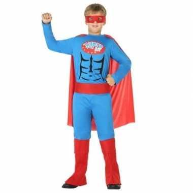 Superheld carnavalskleding/verkleed carnavalskleding jongens helmond