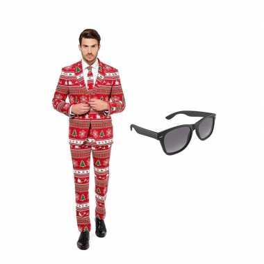 Verkleed kerstboom print net heren carnavalskleding maat (l) gratis
