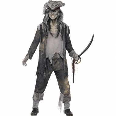 Zombie piraat carnavalskleding heren helmond