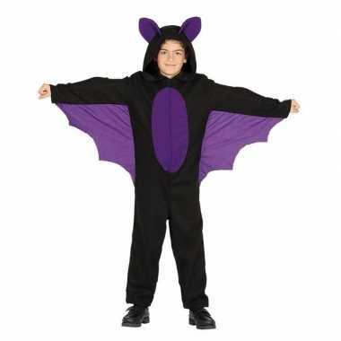Zwart paars vleermuizencarnavalskleding jongens helmond