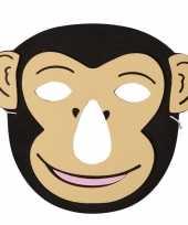 Carnavalskleding aap foam dierenmasker kinderen helmond