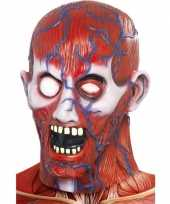 Carnavalskleding anatomisch griezel masker helmond