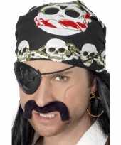 Carnavalskleding bandana doodskoppen helmond