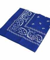 Carnavalskleding blauwe bandana helmond