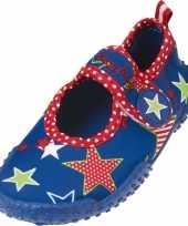 Carnavalskleding blauwe waterschoenen kids sterren helmond