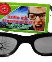 Carnavalskleding bril kapotte lens helmond