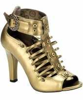 Carnavalskleding bronzen steampunk sandalen hak helmond