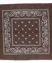 Carnavalskleding bruin sjaaltje paisley motief helmond