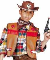 Carnavalskleding bruine cowboy vest kids helmond