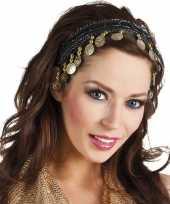 Carnavalskleding carnaval esmeralda buikdanseres hoofdband zwart dames helmond