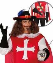 Carnavalskleding carnaval handschoenen musketier mannen helmond