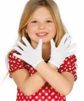 Carnavalskleding carnaval handschoenen wit kinderen helmond