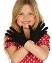 Carnavalskleding carnaval handschoenen zwart kinderen helmond