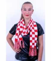 Carnavalskleding carnaval sjaals rood wit helmond