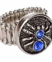 Carnavalskleding chunkring blauwe spin volwassenen helmond