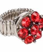 Carnavalskleding chunkring rode steentjes volwassenen helmond