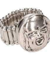Carnavalskleding chunkring zilveren boeddha volwassenen helmond