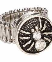 Carnavalskleding chunkring zilveren spin volwassenen helmond
