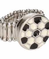 Carnavalskleding chunkring zilveren voetbal volwassenen helmond
